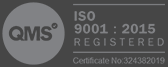 QMS ISO 9001:2015 Registered - Certificate No: 324382019