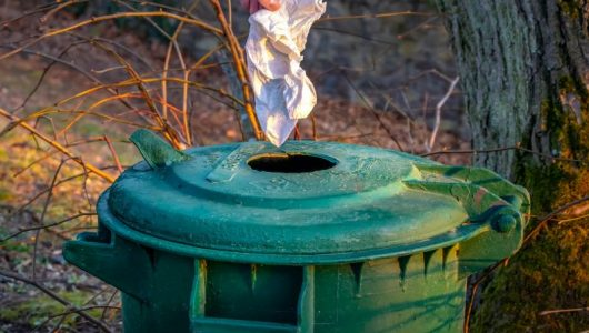 disposing of white waste into a green bin as part of a Duty of care