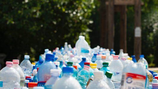 an array of single use plastics outside