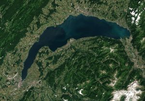 Overhead view of lake geneva