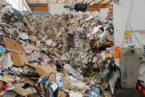 Dry mixed commercial waste piled up