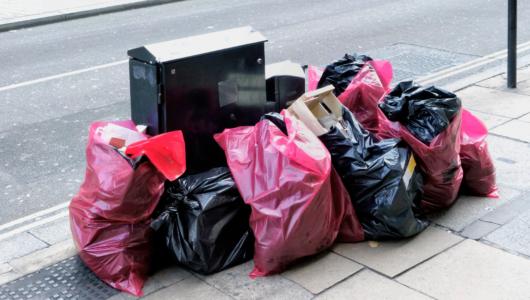 rubbish removal bin bags