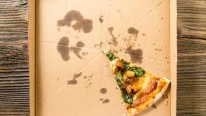 Greasy pizza box