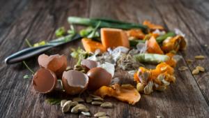 Food waste piled up