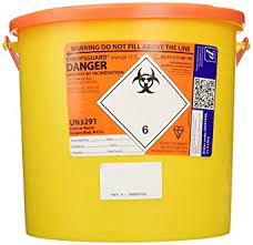 orange lid clinical waste bin